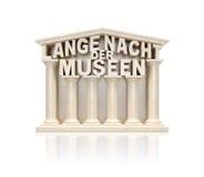 Der Museen (noche larga de Lange Nacht de museos en estados de lengua alemana) Imagen de archivo libre de regalías