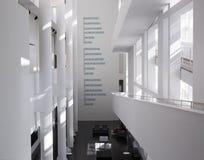 Der Museum für Moderne Kunsts-Innenraum und die Anzeigen, Barcelona Lizenzfreies Stockfoto