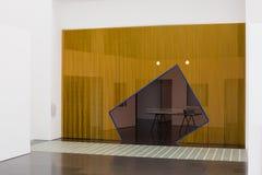 Der Museum für Moderne Kunsts-Innenraum und die Anzeigen, Barcelona Lizenzfreie Stockfotografie