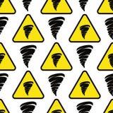 Der Musterwiederholung des Tornados geometrische Illustration des nahtlosen Twisterhintergrundgefahrn-tornade Design-Vektors Farb Stockbilder