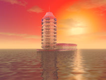 Der mysteriöse Eisturm Stockfoto