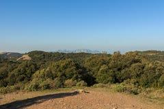 Der mythische Berg von Montserrat von der Spitze des Berges Lizenzfreies Stockbild