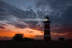 Der Närs-Leuchtturm, Gotland Stockbilder