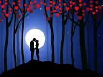 Der Nacht-Vektor des Valentinsgrußes Lizenzfreies Stockfoto