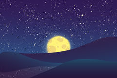 Der Nachtmond, scheinend spielt auf blauem Himmel die Hauptrolle Lizenzfreie Stockfotografie