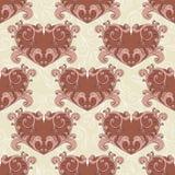 der nahtlose romantische Hintergrund des Valentinsgrußes Lizenzfreies Stockbild
