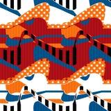 Der nahtlosen moderner Hintergrund Muster-Verzierung des Patchworks Lizenzfreies Stockbild
