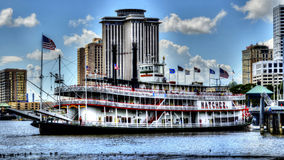 Der Natchez-Showboat Lizenzfreie Stockfotos