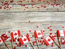 Der Nationalfeiertag vom 1. Juli - gl?cklichen Kanada-Tages, des Herrschaftstages, des Konzeptes von Patriotismus, der Unabh?ngig stockfotos