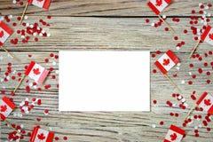 Der Nationalfeiertag vom 1. Juli - gl?cklichen Kanada-Tages, des Herrschaftstages, des Konzeptes von Patriotismus, der Unabh?ngig stockbild