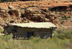 Der Nationalpark der alten hölzernen Kabinenanmeldung Lizenzfreie Stockbilder