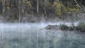 Der Nebel über dem Wasser stock video