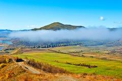 Der Nebel des Abhangs Stockbild