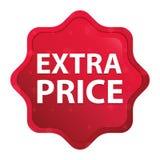 Der nebelhafte Sonderpreis stieg roter starburst Aufkleberknopf lizenzfreie abbildung