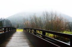 Der nebelige Hügel lizenzfreie stockfotos