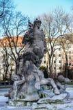 Der Neptun-Brunnen ?ndern herein botanischen Garten von M?nchen, Deutschland stockfoto
