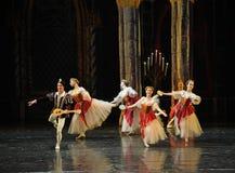 Der nette Gesang- und Tanzen-Dprinz erwachsener Zeremonieballett Swan See Lizenzfreies Stockbild