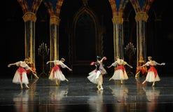 Der nette Gesang- und Tanzen-Dprinz erwachsener Zeremonieballett Swan See Stockfotografie