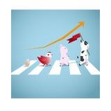 Der nette Tierweg über der Straße Stockfoto