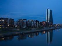 Der Neubau der Europäische Zentralbank-Hauptsitze, Frankfurt lizenzfreie stockfotografie