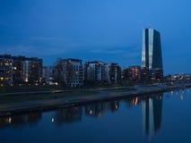 Neubau der europäischen Zentralbank in Frankfurt Stockbild