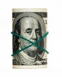 Der neue 100 Dollarschein, Abschluss herauf Franklins Gesicht Stockbild