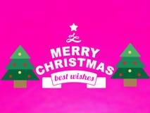 Der neue Grußkartenvektor der frohen Weihnachten lizenzfreie abbildung