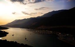 Der neue Jachthafen von Kas, die Türkei Lizenzfreies Stockfoto