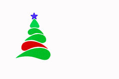 Der neues Jahr- und Weihnachtsbegriffsbaum gemacht von einer Farbpappe Getrennt Stockfotografie