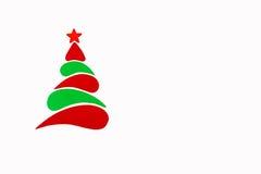 Der neues Jahr- und Weihnachtsbegriffsbaum gemacht von einer Farbpappe Getrennt Lizenzfreie Stockbilder