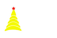Der neues Jahr- und Weihnachtsbegriffsbaum gemacht von einer Farbpappe Getrennt Stockbild