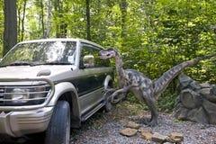 Der neugierige Dinosaurier Stockfotografie