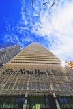 Der New York Times-Tageszeitungswolkenkratzer in Midtown Manhattan Lizenzfreies Stockbild