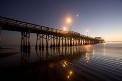 Der Newport-Strand und Pazifische Ozean Stockfotos