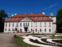 Der Nieborow-Palast, alter magnats Wohnsitz in Polen Lizenzfreies Stockfoto