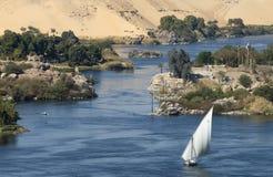 Der Nil in Aswan Lizenzfreies Stockbild