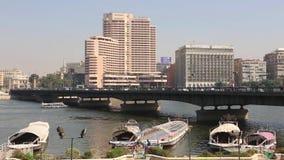 Der Nil bei Kairo - Ägypten - volles VIDEOHD 1080 stock video