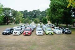 Der 4. Nissan Eco-Wohnwagen 2015 Stockfotografie