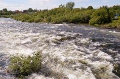 Der Niva-Fluss Stockfotografie