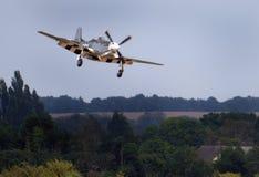 Der nordamerikanische Mustang der Luftfahrt-P-51 ist ein amerikanischer weit reichender, EinzelSeat-Kämpfer und ein Jagdbomber, d stockfotografie