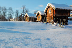 Der nordische Winter Stockbilder