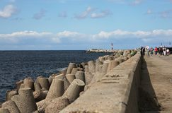 Der Nordwellenbrecher Baltiysk bis 1946 - Pillau, das Kal Lizenzfreie Stockbilder