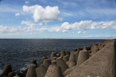 Der Nordwellenbrecher Baltiysk bis 1946 - Pillau, das Kal Stockfoto