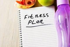 Der Notizblock mit Eignungs-Planlistentext Gesunde Ernährung, nährend, abnehmend und wiegt Verlustkonzept stockbilder