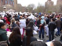 Der 2016 NYC-Kissenschlacht-Tag 54 Lizenzfreies Stockfoto