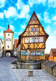 der ob rothenburg tauber 免版税图库摄影