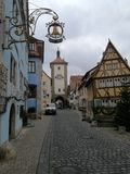 der ob rothenburg tauber 库存照片