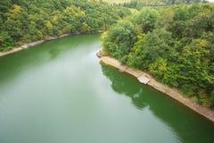 Der obere Sauer See bei Lultzhausen lizenzfreies stockbild