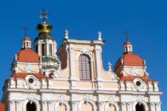 Der obere Teil der Kirche von St. Kasimir in Vilnius Stockbilder