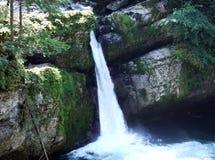 Der obere Wasserfall Giessenfall oder Wasserfall Der Obere Giessenfall oder Ober Giessenfall, Thur-Fluss stockbild